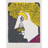 view Kurt Vonnegut Self-Portrait digital asset number 1