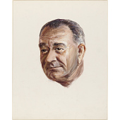view Color study of Lyndon B. Johnson's head digital asset number 1