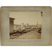 view View of the Roof of the U.S. Patent Office Building, Corner of 7th and G Streets, After the Fire of September 24th, 1877 digital asset number 1