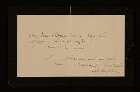 thumbnail image for James McNeill Whistler letter to John White Alexander