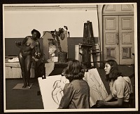 thumbnail image for Florence Allen posing for a drawing class at the California School of Fine Arts