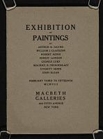 thumbnail image for Exhibition of paintings by Arthur B. Davies, William J. Glackens, Robert Henri, Ernest Lawson, George Luks, Maurice B. Prendergast, Everett Shinn, John Sloan