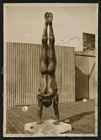 thumbnail image for Artist's model Tony Sansone executing a handstand pose