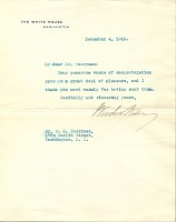 thumbnail image for Woodrow Wilson letter to Clifford Berryman