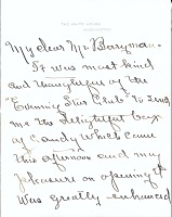 thumbnail image for Edith Bolling Wilson letter to Clifford Berryman
