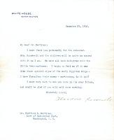thumbnail image for Theodore Roosevelt, Washington, D.C. letter to Clifford Berryman, Washington, D.C.