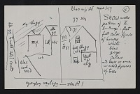 thumbnail image for Oscar Bluemner notes and diagram for a landscape painting of Bloomfield