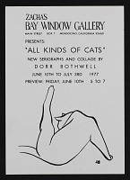 thumbnail image for <em>All Kinds of Cats: New Serigraphs and Collage by Dorr Bothwell</em> exhibition announcement