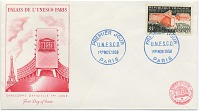 thumbnail image for First day cover commemorating opening day at UNESCO Headquarters, Paris