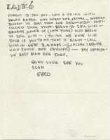 thumbnail image for Eero Saarinen, Bloomfield Hills, Mich. letter to Marcel Breuer, New York, N.Y.