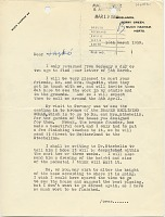 thumbnail image for Henry Moore, Much Hadham, England letter to Marcel Breuer, New York, N.Y.