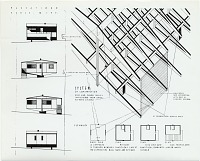 thumbnail image for Plas-2-Point prefabricated house, elevation drawings, designed by Marcel Breuer