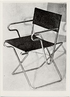 thumbnail image for Folding chair, designed in 1928 by Marcel Breuer