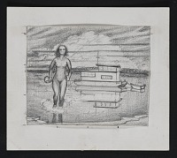 thumbnail image for Preliminary sketch for painting <em>American Venus</em>