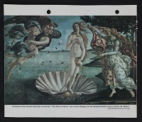 thumbnail image for Reproduction of Botticelli's painting <em>The birth of Venus</em>