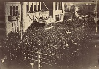 thumbnail image for President Benjamin Harrison at City Hall, Los Angeles, Calif. during his Western tour of the United States