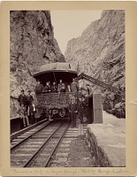 thumbnail image for President Benjamin Harrison in Royal Gorge, Seattle, Wash. during his Western tour of the United States