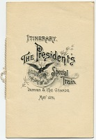 thumbnail image for Itinerary for the president's special train, Denver and Rio Grande