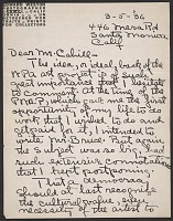 thumbnail image for Edward Weston letter to Holger Cahill