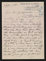 thumbnail image for Mary Cassatt letter to John Wesley Beatty