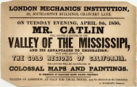 """thumbnail image for Broadside for """"Valley of the Mississipi"""", a lecture by George Catlin delivered on April 9"""