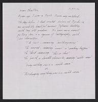 thumbnail image for Lenore Tawney letter to Maryette Charlton