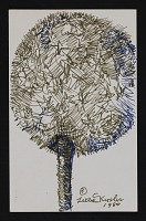thumbnail image for Mail art drawing of a dandelion puff