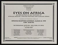 thumbnail image for Flyer for <em>Eyes on Africa</em>, Cinque Gallery