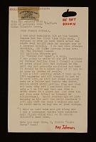 thumbnail image for Ray Johnson letter to Joseph Cornell