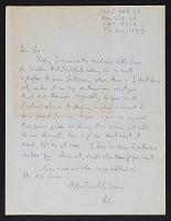 thumbnail image for Robert Motherwell letter to Joseph Cornell