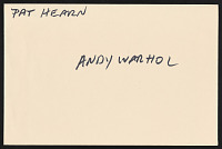 view Pat Hearn and Andy Warhol digital asset: Pat Hearn and Andy Warhol