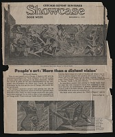 thumbnail image for Article from the <em>Chicago Sunday Sun-Times</em> about murals, including the <em>Wall of Respect</em>