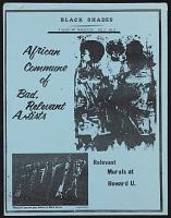 "thumbnail image for ""African Commune of Bad, Relevant Artists"" in <em>Black Shades</em>"