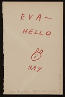 thumbnail image for Ray Johnson note to Eva Lee, Great Neck, N.Y.
