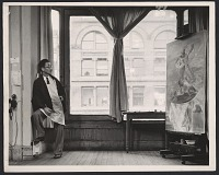 thumbnail image for Yasuo Kuniyoshi in his studio