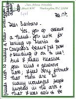 thumbnail image for Joan Adams Mondale letter to Barbara Fendrick