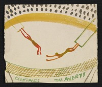thumbnail image for Milton Avery holiday card to Fred and Adelaide Morris Gardner