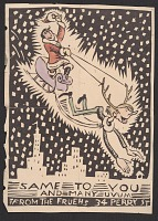 thumbnail image for Christmas card from Alfred Frueh to Wood Gaylor