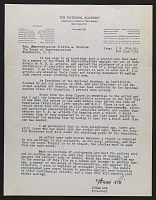 thumbnail image for Jonas Lie, New York, N.Y. letter to Clifton A. Woodrum, Washington, D.C.