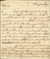 thumbnail image for Benjamin West letter to Charles Willson Peale