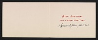thumbnail image for Grandma Moses Christmas card to Frances and Mary Virginia Greer
