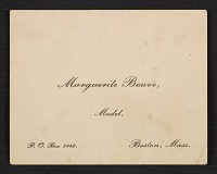 thumbnail image for Marguerite Bouvè business card