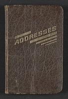 thumbnail image for Duane Hanson's address book