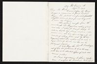 thumbnail image for Thomas Eakins, New York, N.Y. letter to Charles Henry Hart, New York, N.Y.