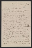 thumbnail image for Frederic Edwin Church letter to Martin Johnson Heade