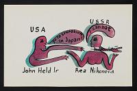 thumbnail image for Rea Nikonova, U.S.S.R. mail art to John Held Jr.