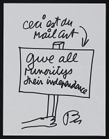 thumbnail image for Ben Vautier mail art to John Held Jr.