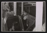 thumbnail image for Herr Sicher, George Stout and Thomas Carr Howe inspecting paintings
