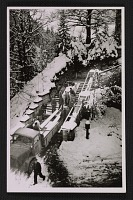 thumbnail image for MFAA soldiers loading boxed artworks onto a truck at Neuschwanstein Castle