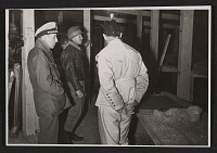 thumbnail image for Thomas Carr Howe, George Stout, and Karl Sieber in the Kammergrafen mine in Altaussee, Austria